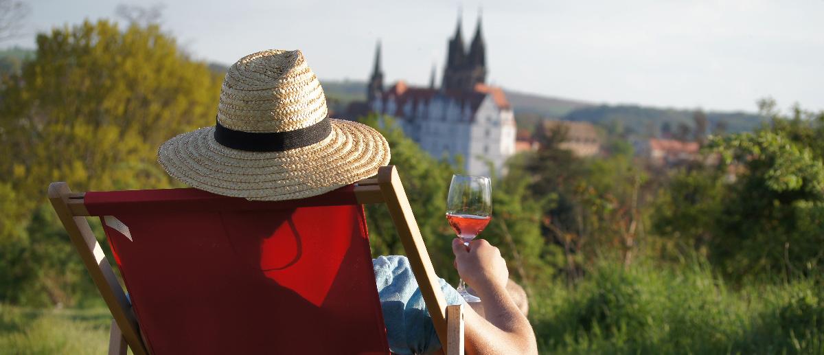 Relaxen auf dem Weinberg Schloss Proschwitz